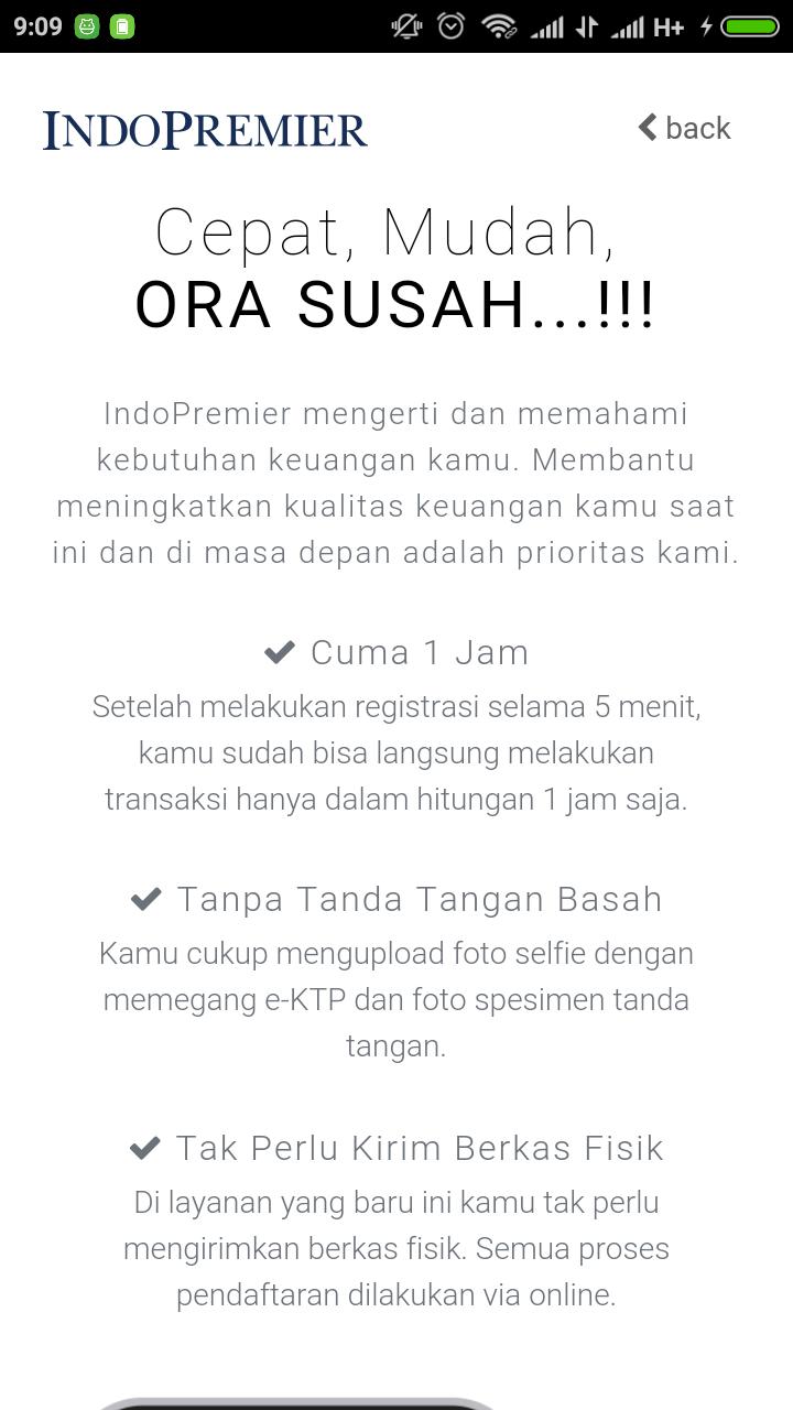 Tampilan registrasi online ipot go