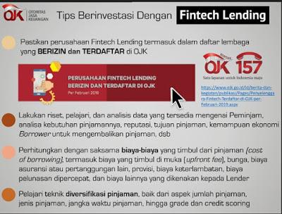 tips berinvestasi dengan fintech lending