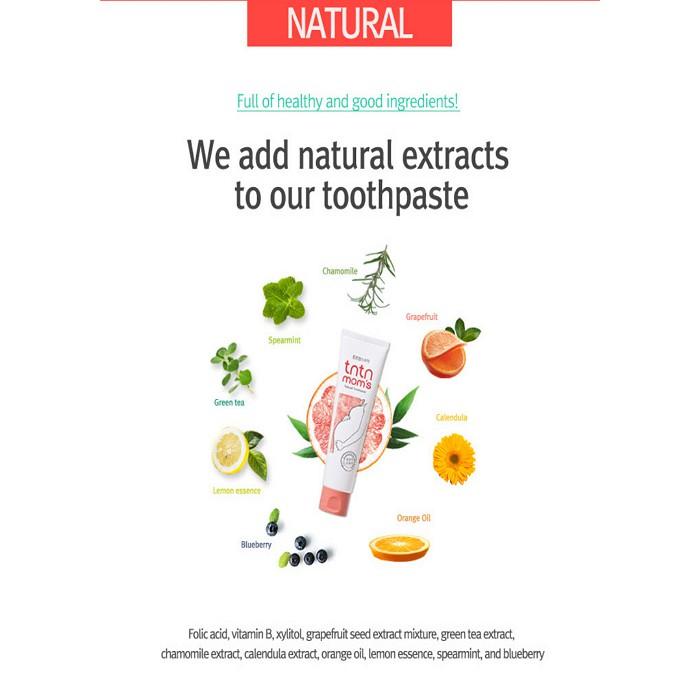 kandungan alami pasta gigi tntnmoms yang terbuat dari tumbuhan