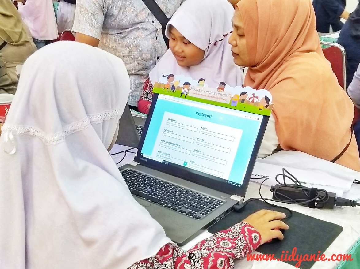 proses registrasi website anak cerdas online