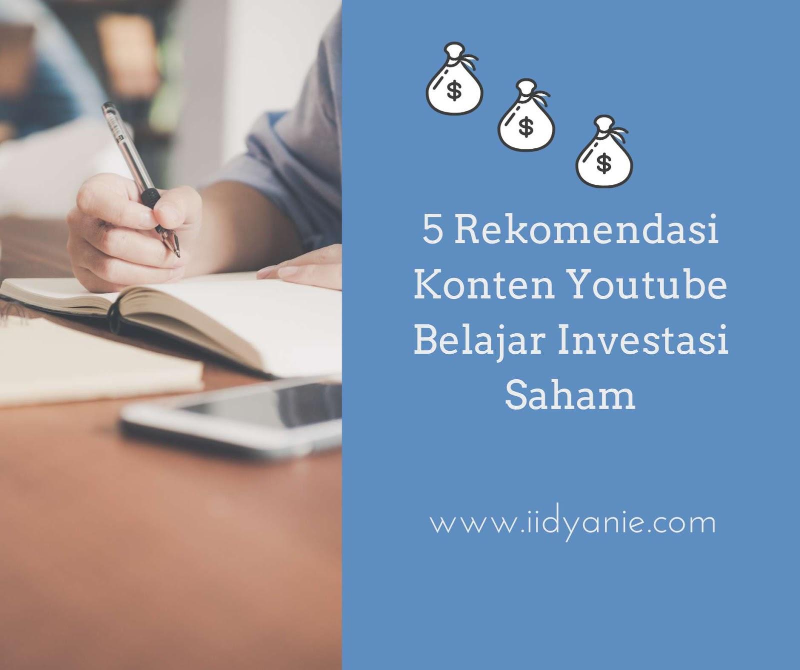 rekomendasi konten youtube belajar investasi saham