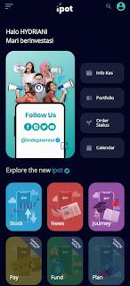 review aplikasi menu login ipot