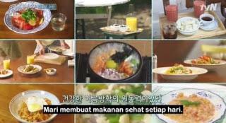 menu makanan sehat variety show our little summer vacation Jung Yu mi Choi Wooshik