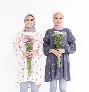 Koleksi vanilla hijab untuk lebaran