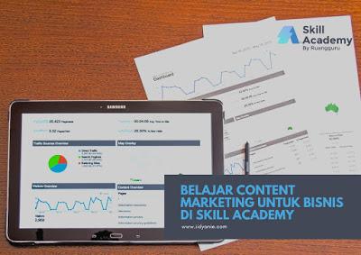 belajar kelas online content marketing untuk bisnis di aplikasi skill academy