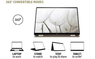 fitur unggulan laptop hp spectre x360 14 convertible bisa dilipat dan menjadi tablet