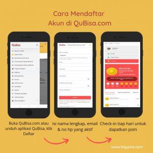 Cara mendaftar akun di QuBisa.com