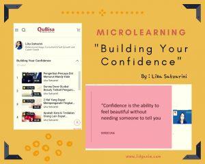 Qubisa microlearning building your confidence lika satvarini