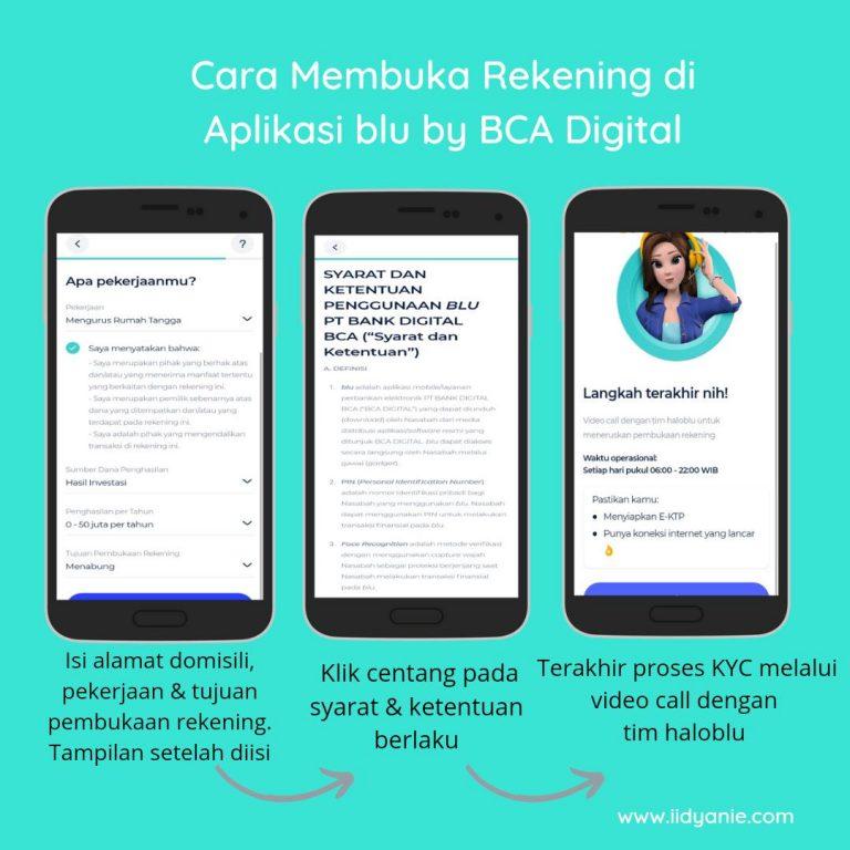 Review jujur aplikasi blu cara membuka rekening, isi data pekerjaan dan syarat ketentuan kyc verifikasi dengan tim haloblu