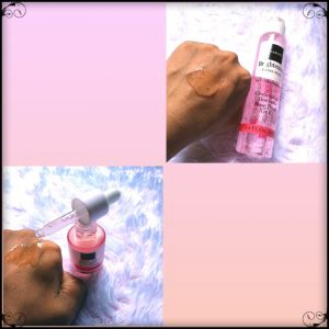 tekstur cairan scarlett whitening facial wash dan brightly serum
