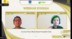 Mang amsi penuli saham syariah pemula pada webinar syariah kspm feb ui tentang penjelasan investasi syariah