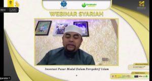 Ustadz taufiqurrahman ustad pantun pada webinar syariah kspm feb ui tentang investasi syariah