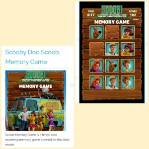 game online plays org scooby doo memory game